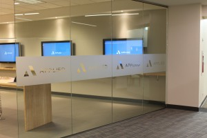 Etched glas vinyl for Chicago interiors