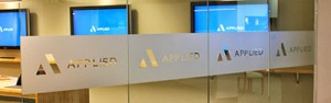 Applied Systems - Frosted Glass Logo