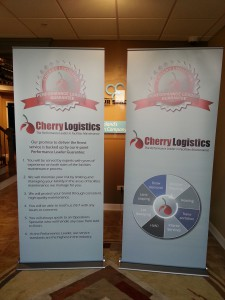 Retractable banner stands Chicago