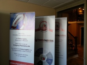 Trade show retractable banner stands Chicago