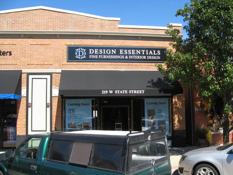 Exterior building sign and awning graphics Geneva IL
