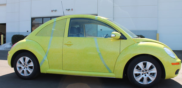 The Tennis Ball Vehicle Wrap