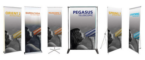 We offer many varieties of retractable banner stands!