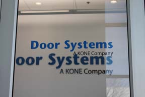 Glass door graphics for Naperville IL Offices